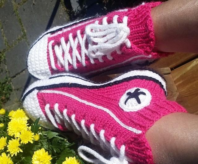 Converse Socks Crochet Pattern Unique Converse Slippers Crochet Pattern
