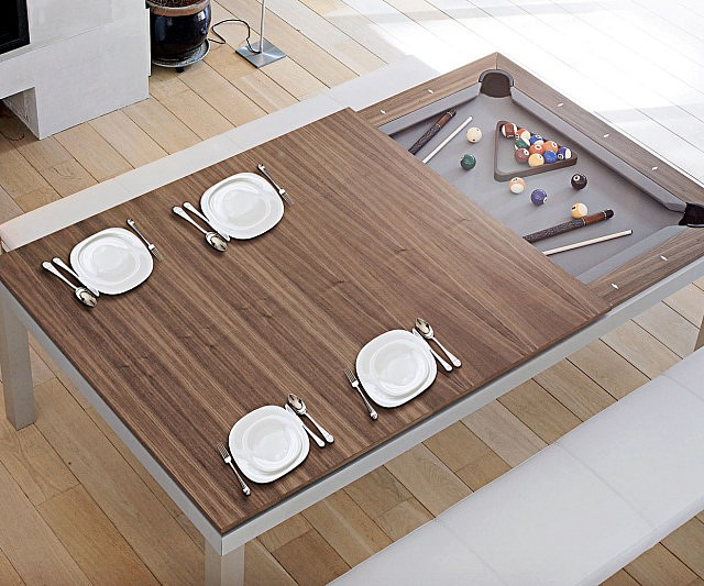 Convertible Billiards Dining Table - Pool table converts to dining
