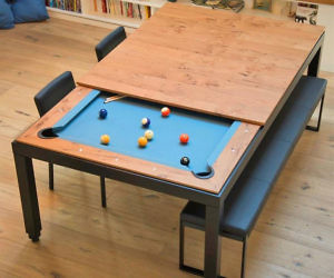 The Convertible Dining Pool Table, Pool Table Dining Room Conversion