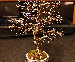 Copper Wire Bonsai Tree