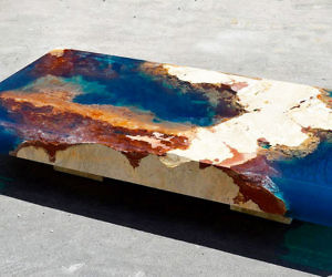 Fresh Coral Reef Coffee Table