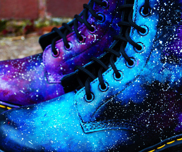 Awesome Galaxy Doc Martens