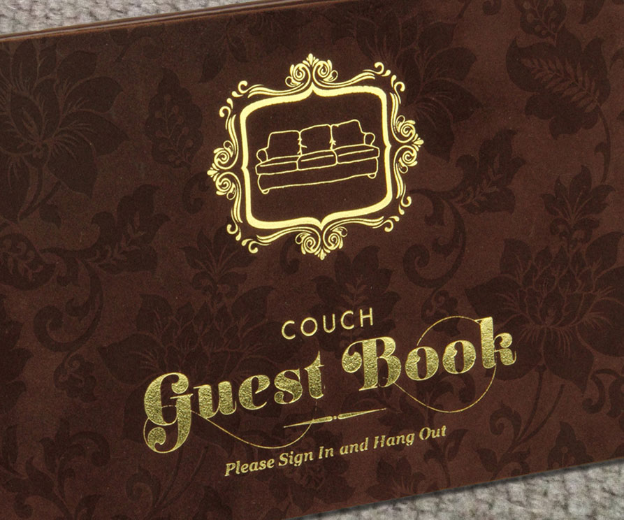 Couch Guest Book