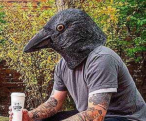Realistic Crow Mask