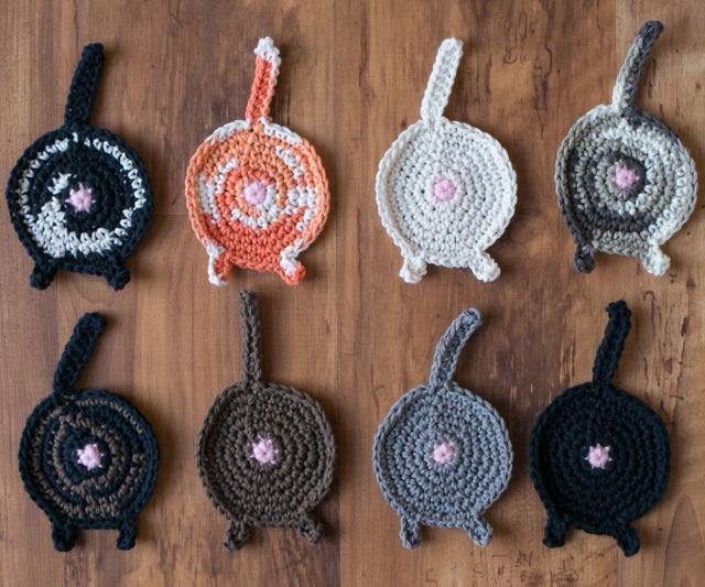 Cat Face Coasters – Free Crochet Pattern | 533x640