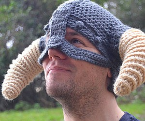 fc889a5cdd9 Crochet Skyrim Viking Helmet