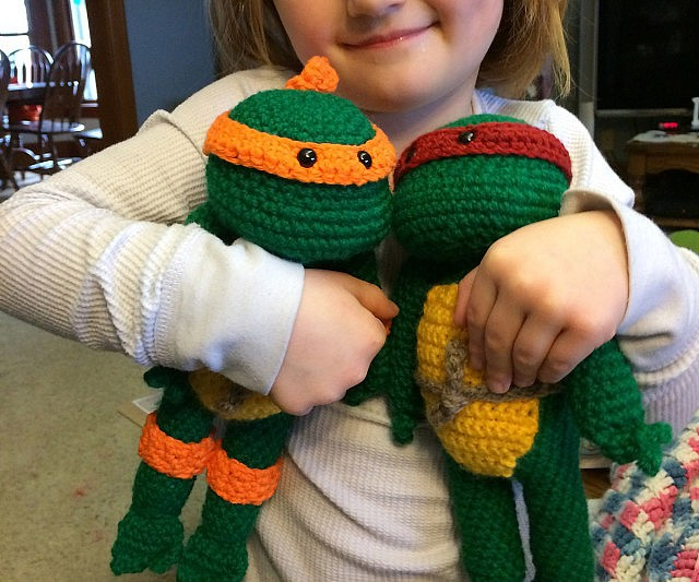 Free Crochet Pattern Teenage Mutant Ninja Turtles : Crochet Teenage Mutant Ninja Turtles