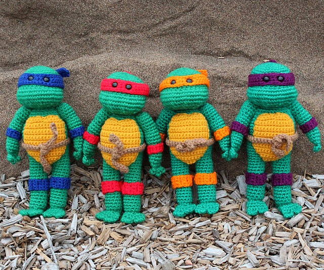 Stunning Crochet Teenage Mutant Ninja Turtles