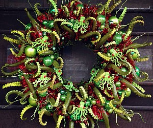Cthulu Christmas Wreath