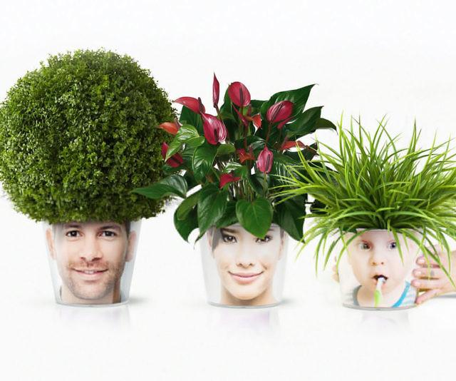 Face Plant Pot Part - 17: Personalized Face Flower Pots