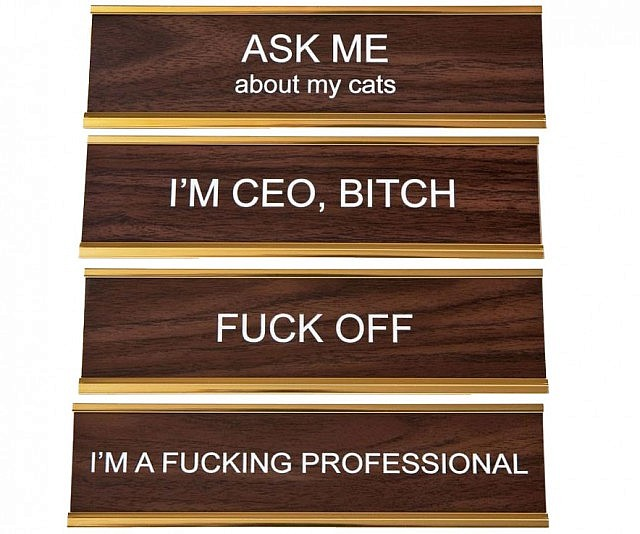 Customized Office Name Plates