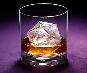Critical Hit D20 Ice Mold