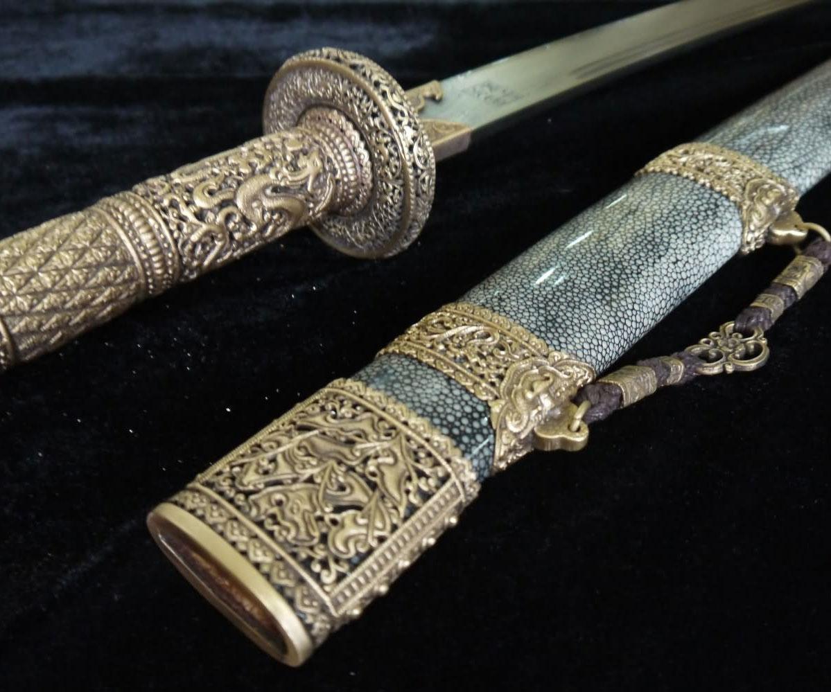 Chinese Damascus Steel Sword