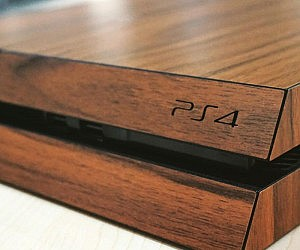 Dark Wood Playstation 4 Skin