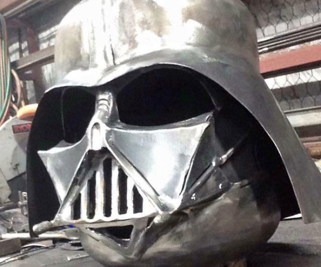 darth vader helmet fire pit. Black Bedroom Furniture Sets. Home Design Ideas