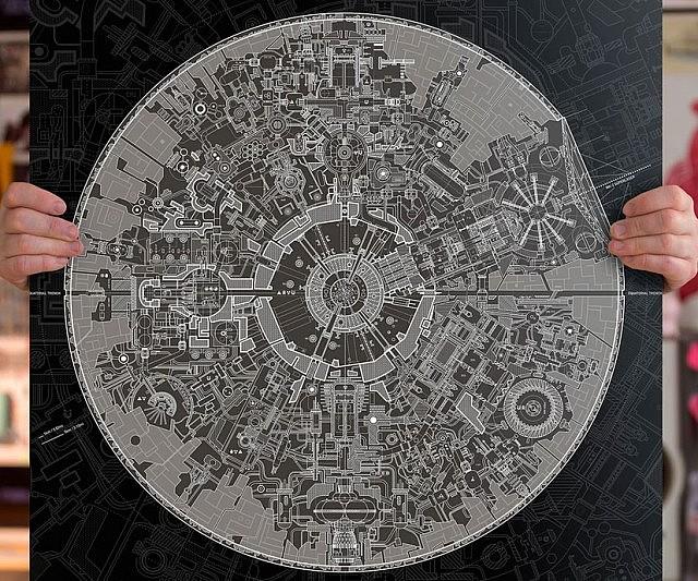 Star Blueprints Poster - Death star blueprints