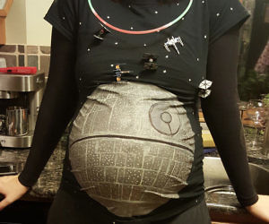 Death Star Maternity Shirt