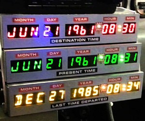 Back To The Future Desk Clock