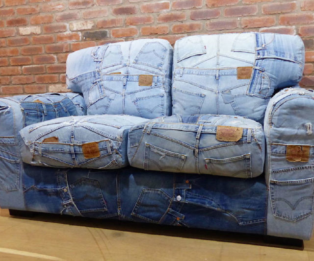 Denim sofa blue denim sofa wayfair thesofa Denim couch and loveseat