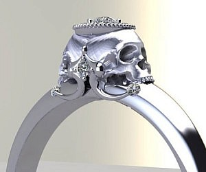 Diamond Skull Engagement Rings
