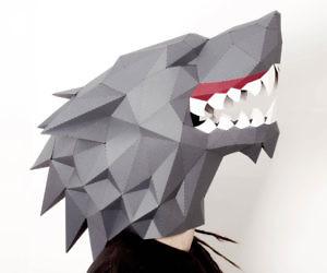 DIY Direwolf Paper Mask