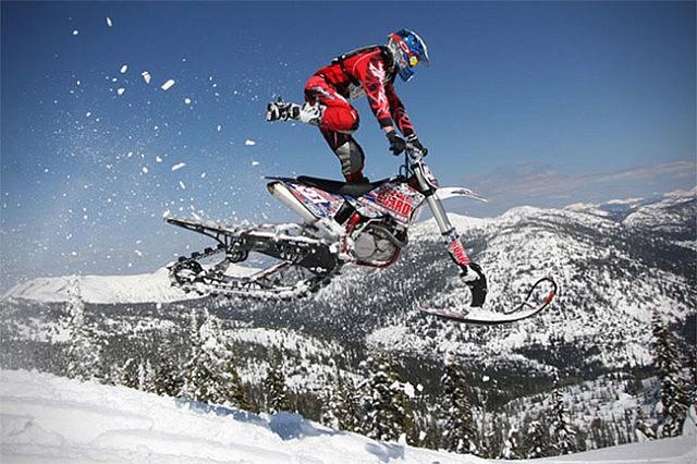 Dirt Bike Snowmobile >> Dirt Bike Snow Kit