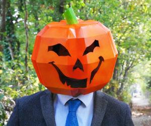 DIY Cardboard Pumpkin Mask