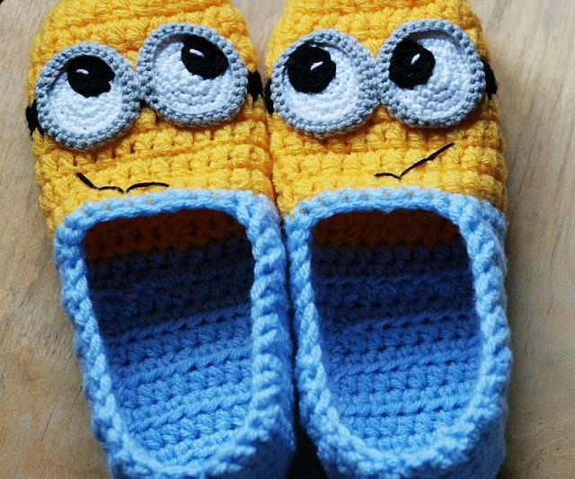 Diy Crochet Minion Slippers