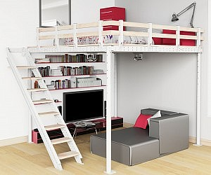 Beautiful DIY Loft Bed Kit