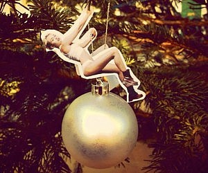 Miley Cyrus Wrecking Ball Ornament