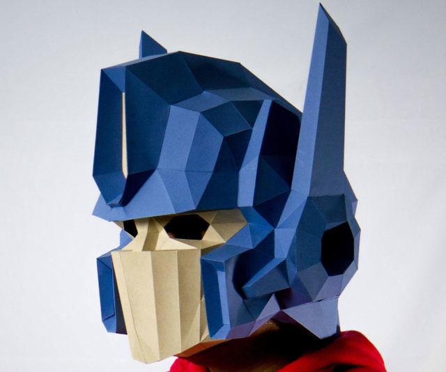 DIY Optimus Prime 3D Paper Mask