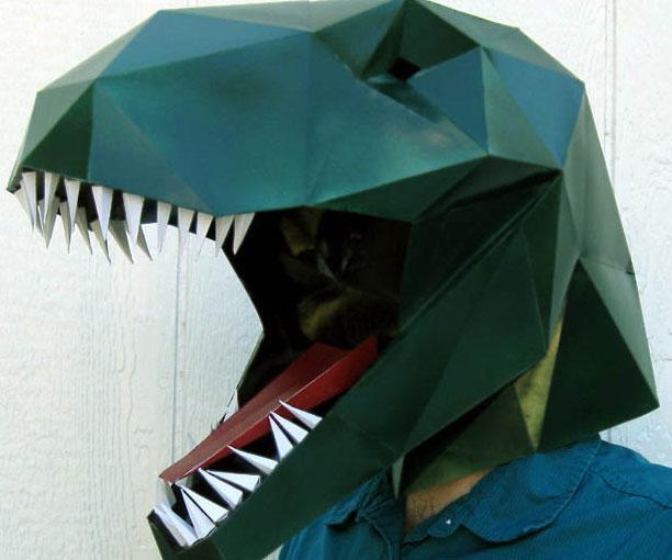 DIY Paper T Rex Mask