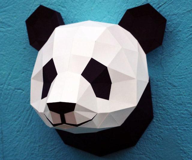 DIY Papercraft Panda Head