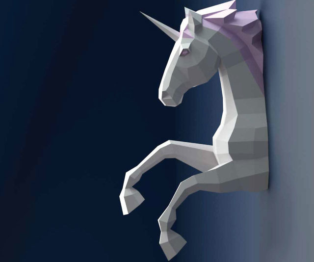 Amazing DIY Wall Mounted D Unicorn Papercraft