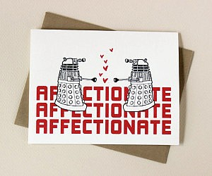 Doctor Who Dalek Affection Card