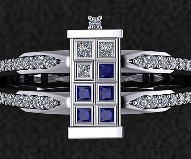 doctor who tardis engagement ring - Dr Who Wedding Ring