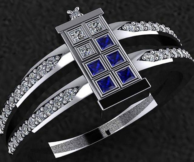 Doctor Who TARDIS Engagement Ring