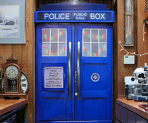 majestic dr who tardis door decal. Doctor Who TARDIS Fridge Skin Flying R C