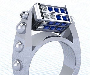 doctor who spinning tardis ring - Doctor Who Wedding Ring