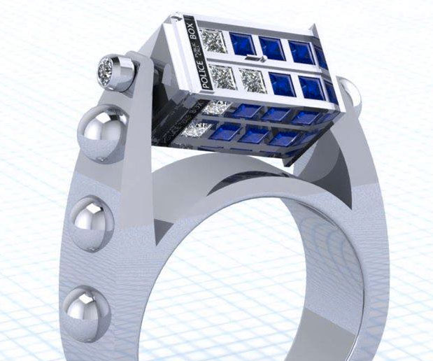 Spinner Wedding Bands 26 Luxury Doctor Who Spinning TARDIS