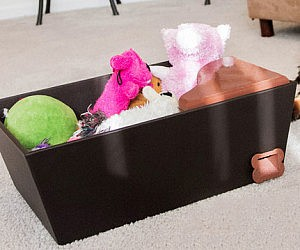 Doggy Treat Dispensing Toy Bin