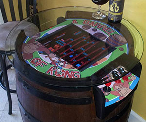 Donkey Kong Wine Barrel Table
