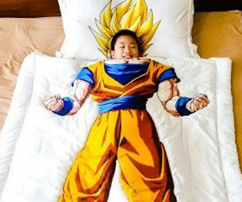 Super Saiyan Goku Bed Cover