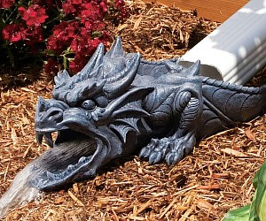 Dragon Rainspout Statue