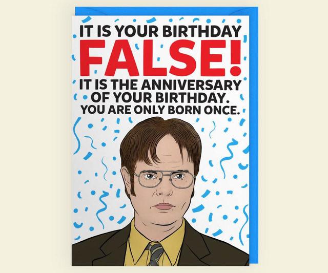 Dwight Schrute Birthday Anniversary Card