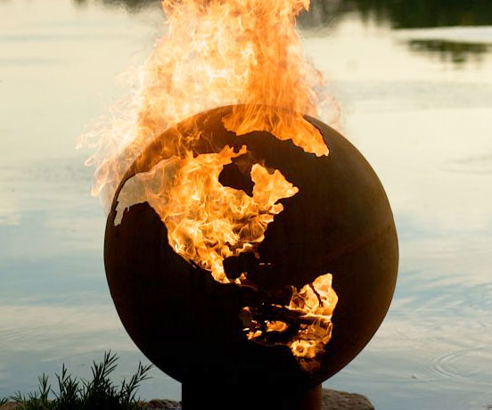 Earth Shaped Fire Pit - coolthings.us