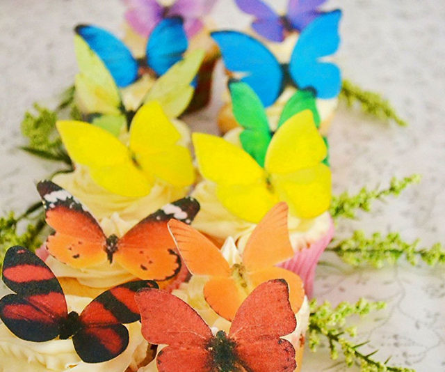 Edible Butterfly Cake Toppers