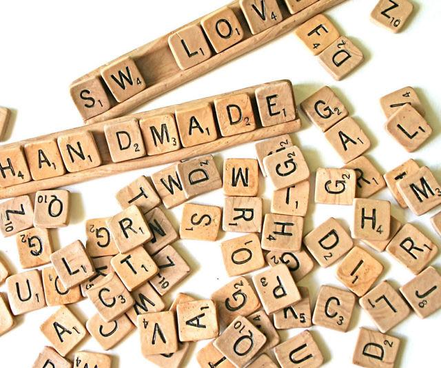 edible scrabble tiles