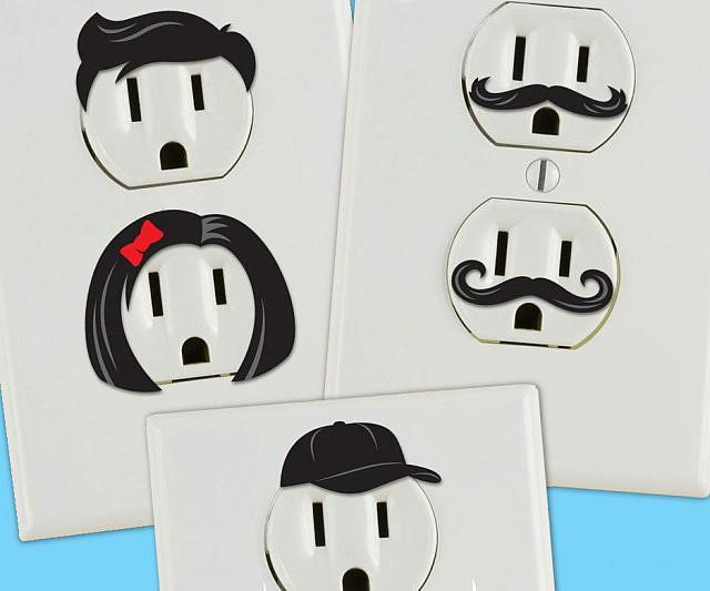 electrical outlet face stickers. Black Bedroom Furniture Sets. Home Design Ideas