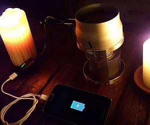Emergency Candle Phone Charger